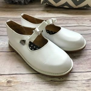 Goody White Leather Mary Janes Shoes 13 Girls Nice